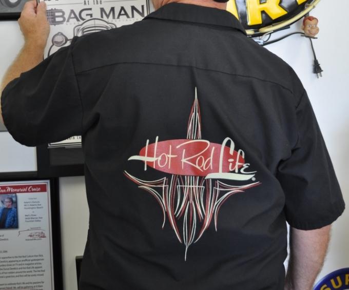 Von Hot Rod Designed Pinstripe Work Shirt