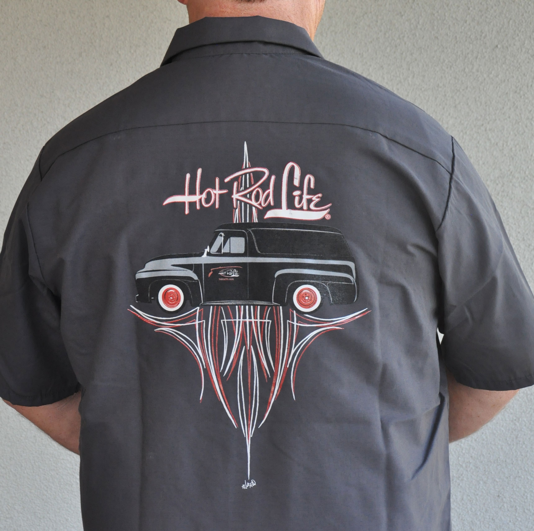 Von Hot Rod Designed Hot Rod Life Panel Truck Work Shirt